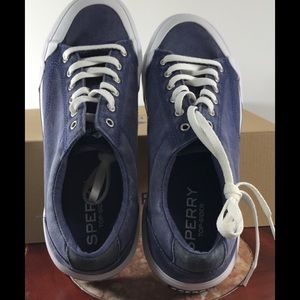 Sperry Shoes - Sperry Stripper II Retro Navy Sneakers